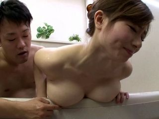 Curvaceous Azumi Chino tries to give a proper titjob in the bathroom (2)