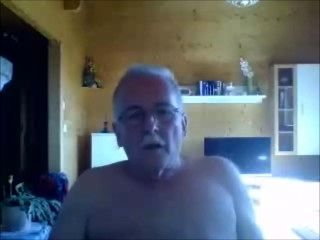 Grandpa Showing His Cock And Orgasms