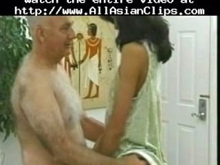 Old Man And A Young Asian. asian cumshots asian swallow