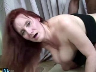 Horny Red Mature Slut Getting Fucked By A Hard Black Cock (6)