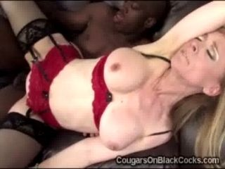 Gorgeous Cougar In Hot Lingerie Gets Pumped Savagely By A Brotha