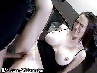 Busty British Cougar hits on Husbands Employee (2)