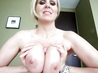 Between tits cum pov