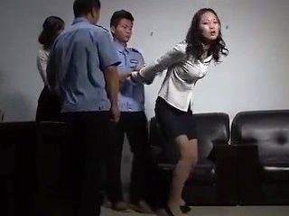 Chinese Girls Handcuffed And Arrested 9