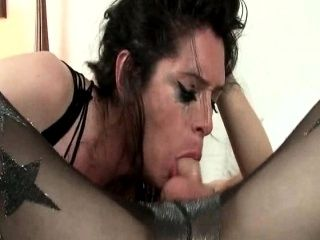Pantyhosed Tgirl Penny fucked in the ass