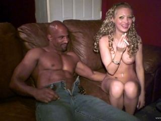 Interracial sex for the sexy Megan Diamond in a party