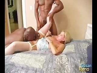 Susan Reno with Johnny Blaze aka Mr. Delicious - Blackmagic