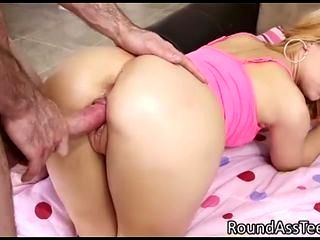 Hot Blond Teen Takes It From Behind