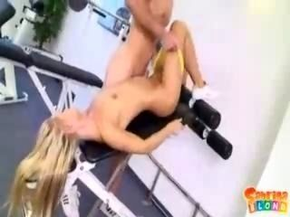 Sabrina Blond At The Gym