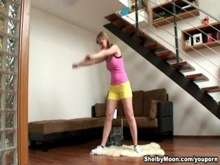 Shelby Moon doing some excercises