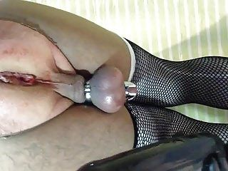 A pretty fucked with inflatable dildo sISSY BITCH SLUT