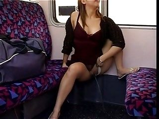 Pissing on Train (2)