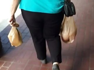 Candid Mature Granny Booty