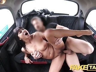 Fake Taxi Saucy hot brunette likes Czech cock (3)