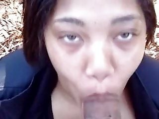 Black Girl With Pretty Eyes Sucking