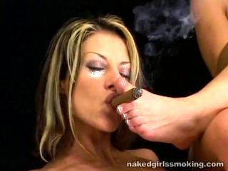 Sasha And Karinna Hot Cigar Smoking And Foot Fetish Kink
