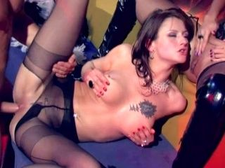 Hot tempered stud analyzes twp gorgeous asses of Angelika Wild and Victoria Lanz (2)