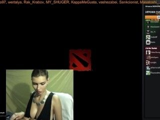 Lika Bunt sexy girl streamer teasing and show your big natural tits