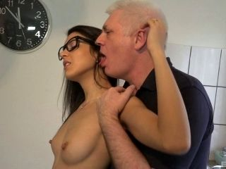 Brunette With Small Boobs Penetrated Hardcore In Bed Sex Porn