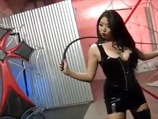 Asian Bullwhipping Hard