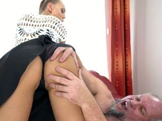 Wonderful blowjob is given to gaffer by stunning fresh lady Ornella Morgan