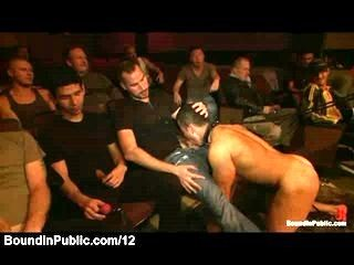 Gay sex in porn theater