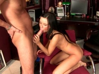 Outrageous anal sex scene featuring luscious brunette model Nadia