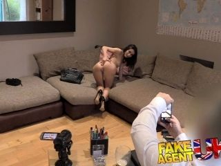 FakeAgentUK Cute Italian takes a fruity anal fucking on the casting couch (2)