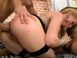 Merciless buttfucking of Lolita Petrova which loves MMF action