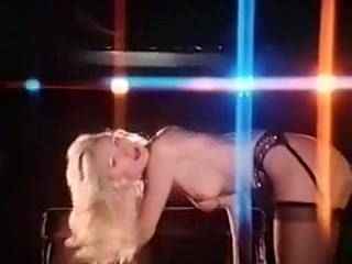 Vintage striptease blonde in stockings 70s to LOVE IS THE DR UG
