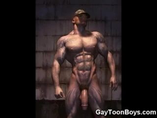 3D Gays Fuck Straight Muscle Dudes!