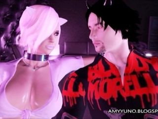 Emo Kitty Gets Her Feet Used And Cummed On In 3D Adult Dating Game (2)