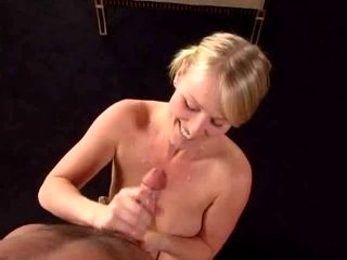 Sexy Little Golden-Haired Knows How To Tease A Shlong