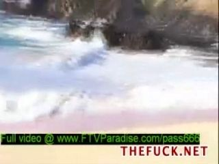 Faye and Larysa tender hot naked babes on the beach - t