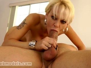 Big Tits Blonde Uber Whore MILF Cougar SANDY SIMMERS Gives Great Blowjob!