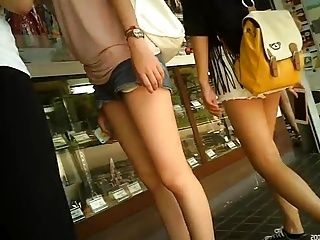 Candid Legs & Shorts In The Park
