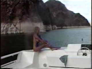 Big Breasted Celebrity Shows Off Her Body On The Boat