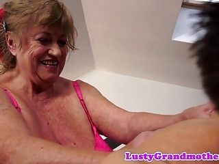 Chubby Mature Fucked On The Bed  (3)