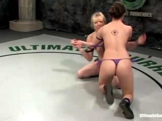 Lesbian Ladies Wrestle In The Ring