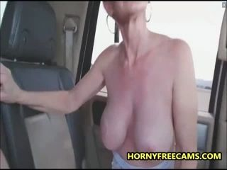 Busty Milf Public Sex And Mouth Full Of Cum In A Car (3)