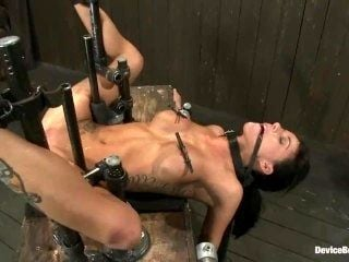 Gia DiMarco in Extreme Bondage: Caning, Whipping, Fucked, Cumming Forever