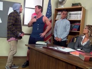 Teacher With Big Tits Face Fucked Roughly By Horny Students
