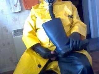 A Good Wank In Rubber And Oilskins
