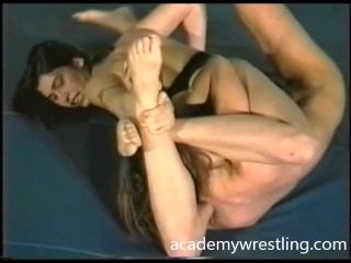 Topless Competitive Wrestling and Oral Strapon