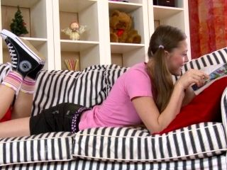 Russian Teen With Shaved Pussy Refining Big Cock With Blowjob