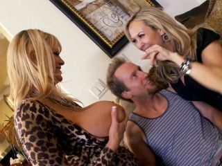 Horny Blonde Cougars Find A Sexy Guy To Ride His Hard Cock (2)