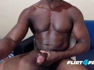 Athletic Hunk Edges & Drains His Monster BBC