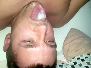Cum Twice In Own Mouth