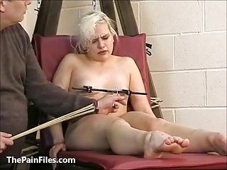 Cute Blonde Slave Chaos Tit Tormented To Tears And Whipped I