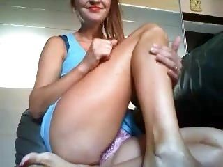 Beautiful Italian masturbe in cam for me